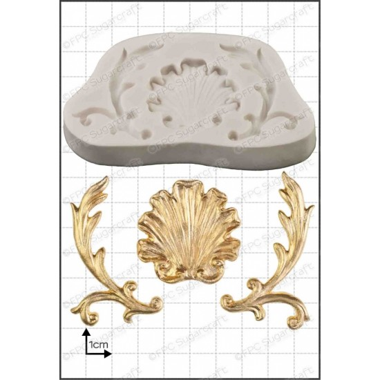 Baroque filigrane Moule Silicone de FPC Sugarcraft