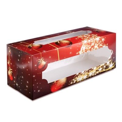 Yule Log Cake Box