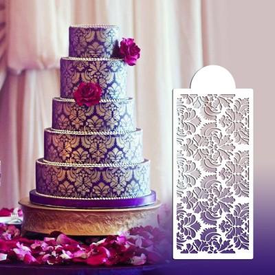 Pochoir Damas pour gâteau 2